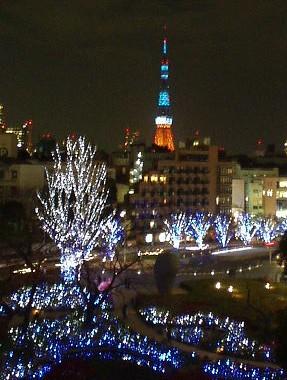 ブルーの東京タワー