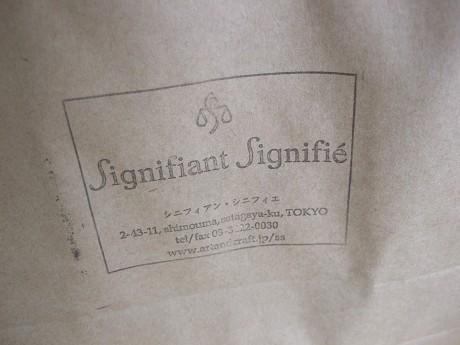 Signifiant Signifie シニフィアン・シニフィエ 世田谷 三軒茶屋