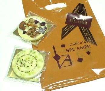 ショコラ ベルアメール(Chocolat Bel Amer)のブランピスターシュとマンディアン・ブラン