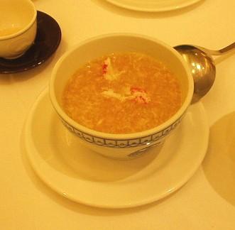 聘珍樓 蟹肉入りコーンスープ