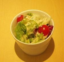 京橋千疋屋 フルーツパーラー ランチのサラダ