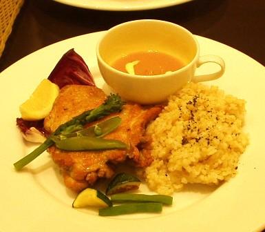 Niblick's Olive Bar ニブリックスオリーブバール ランチセット チキンと玄米
