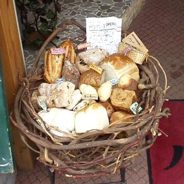 パン焼き人 パンのディスプレイ