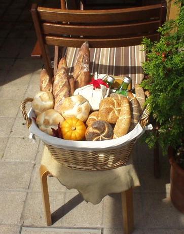 ベッカライ ブロートハイムのパンのディスプレイ